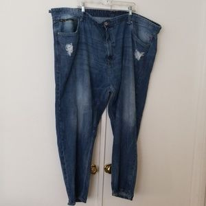BIG AND TALL FADED JEANS